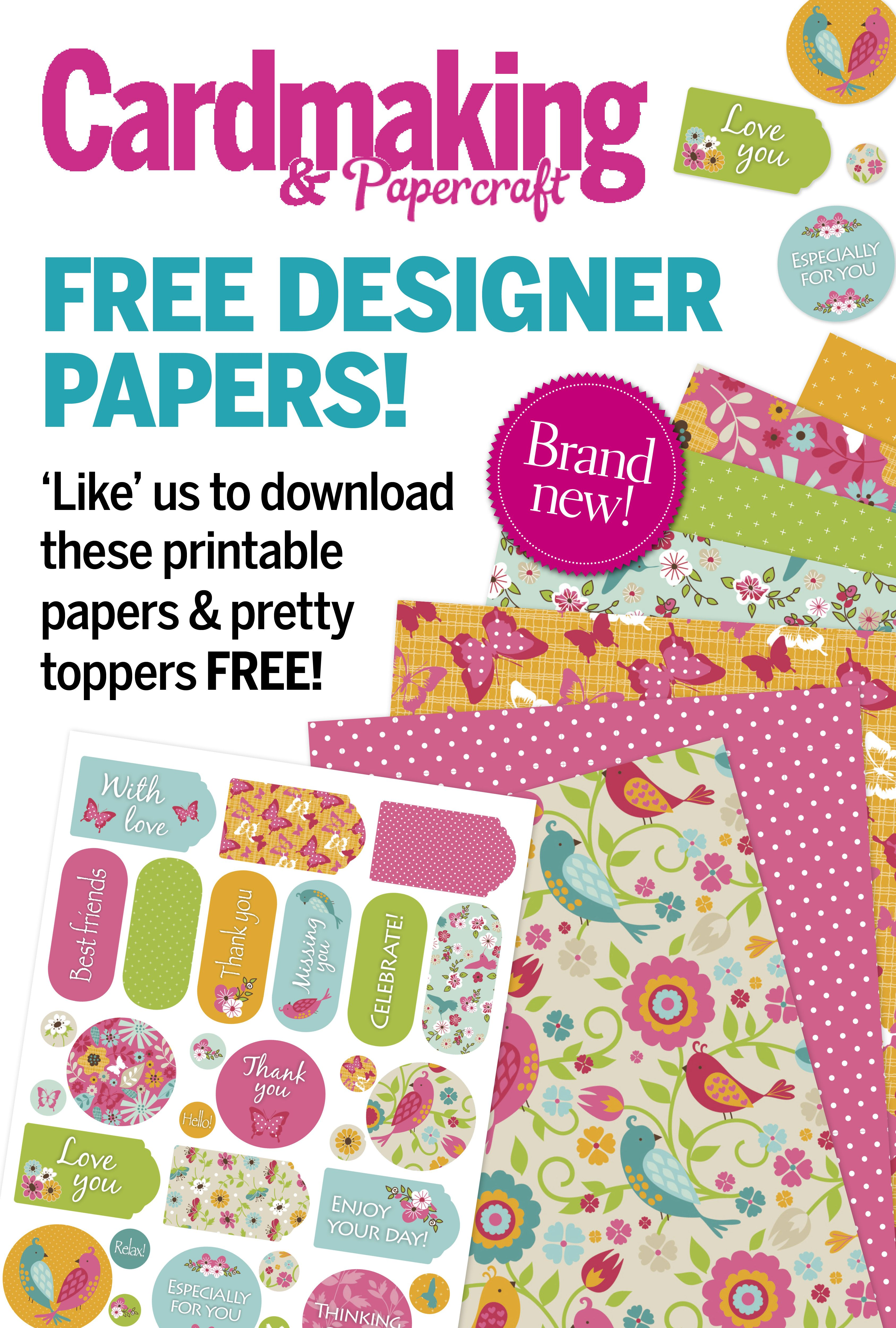 Like our Facebook page to download these beautiful papers for FREE! https://www.facebook.com/cardmakingmag?fref=ts