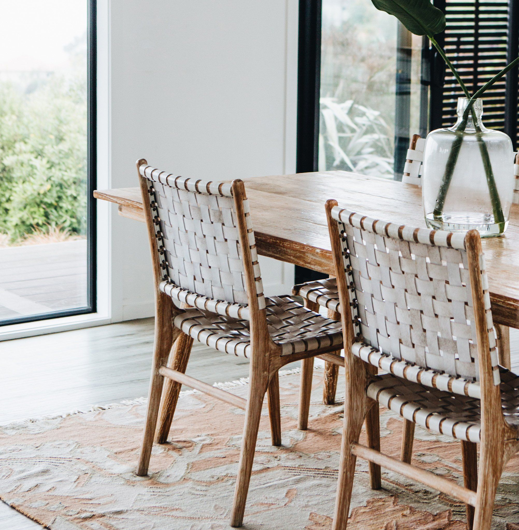 White Leather Weave Dining Chair Leather Dining Room Chairs
