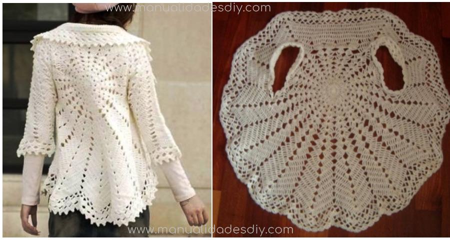 Patrones para tejer un chaleco circular a crochet | filet haken ...
