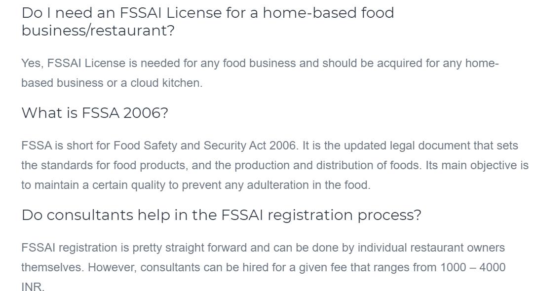 FSSAI Registration Applying for the FSSAI Food License