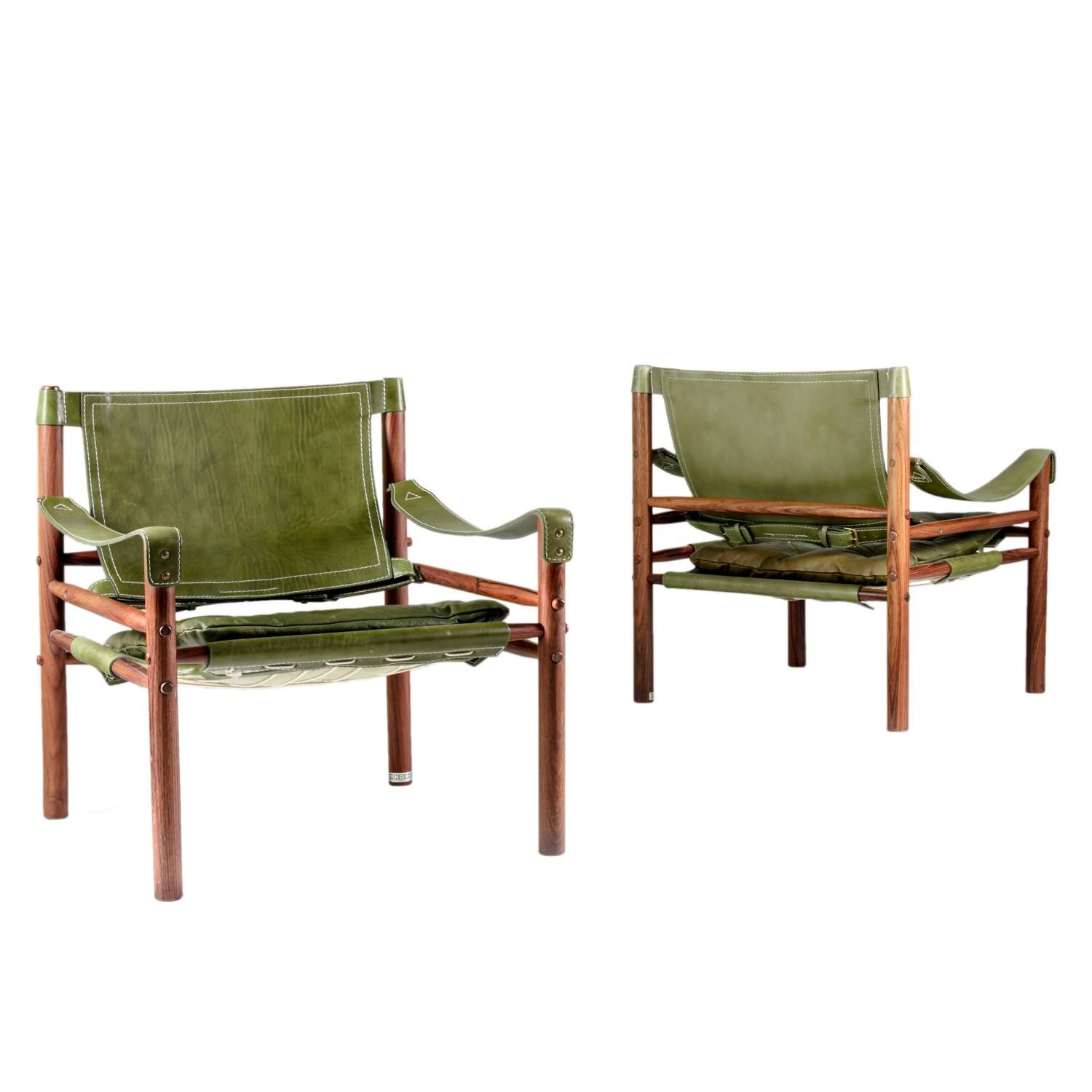 "Pair of Arne Norell ""Sirocco"" Safari Chairs"