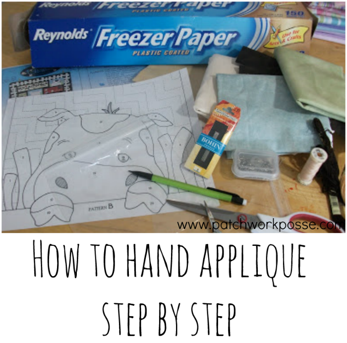 Hand Applique - How to Step by Step Freezer Paper Applique [Pictures ...