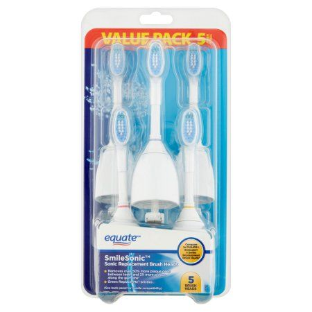 Equate SmileSonic Electric Toothbrush Replacement Brush Heads