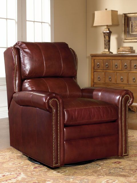 The Satchel Wall-Hugger Recliner W/Brass Nails is offered in hundreds of leather options and includes a standard nailhead trim in natural finish. & Bradington-Youngu0027s SATCHEL WALL-HUGGER RECLINER W/BRASS NAILS ... islam-shia.org