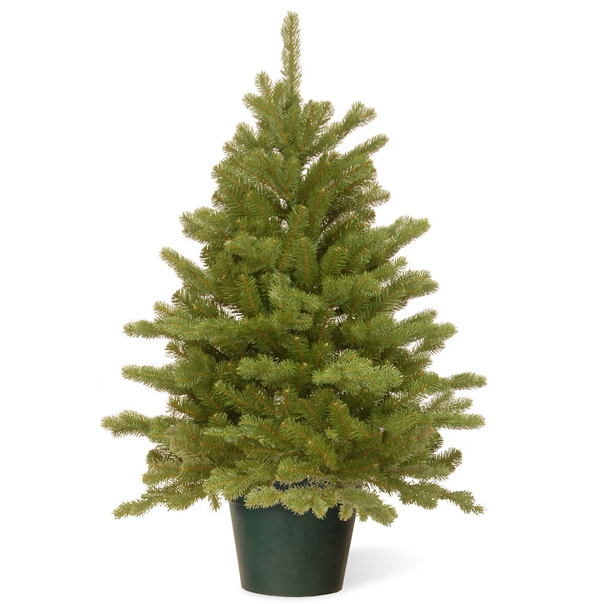 3ft Hampton Spruce Potted Feel-Real Artificial Christmas ...