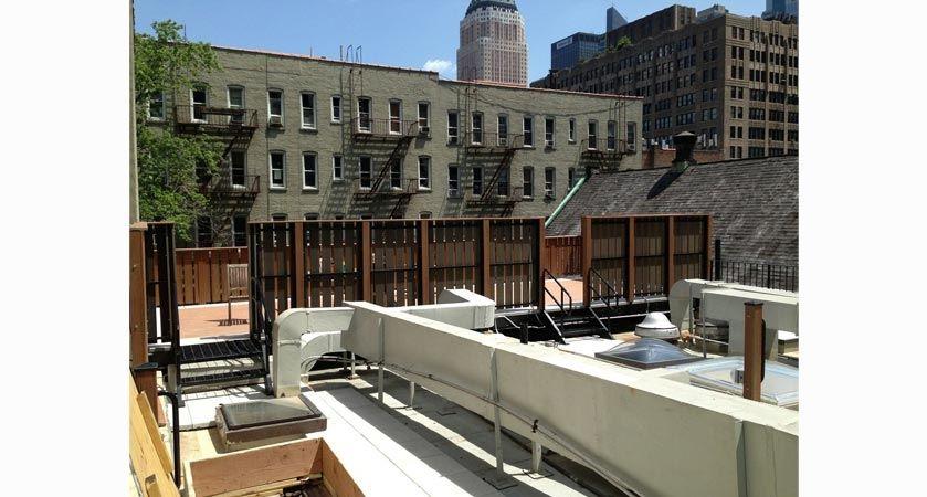 Roof Deck Iron Structure & Iron Fence Location: Hells Kitchen, New York City  Dori Doors & Security, Inc. | Interior and Exterior Doors. www.doridoors.com