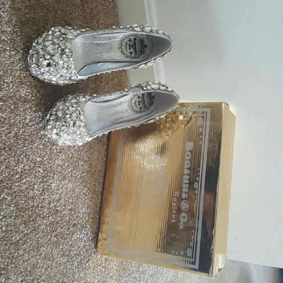 Custom Made Crystal Shoes Custom Made Crystal Shoes by British based company Boginni. 5 inch heel. Worn once. Shoes Heels