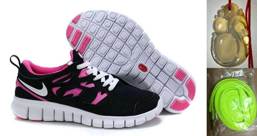 buy popular 3fcbb dd726 Chalcedony Dragon Volt Lace Womens Nike Free Run 2 Black Pink Flash White  Shoes