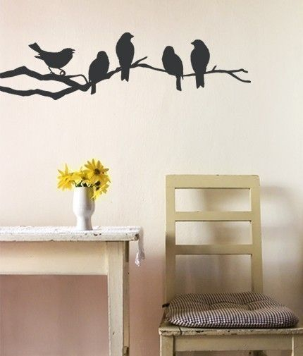 Wall decor ~ find pictures of birds and draw their outlines