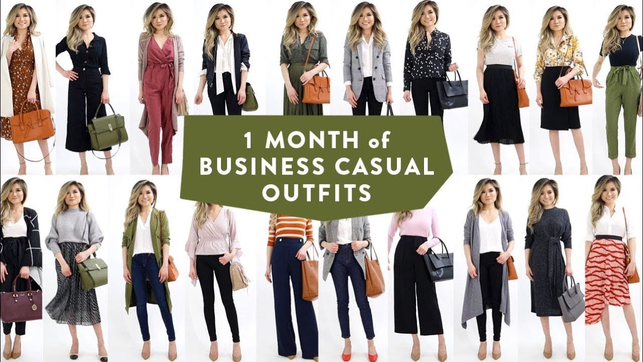 1 Month Of Business Casual Outfit Ideas Smart Casual Work Office
