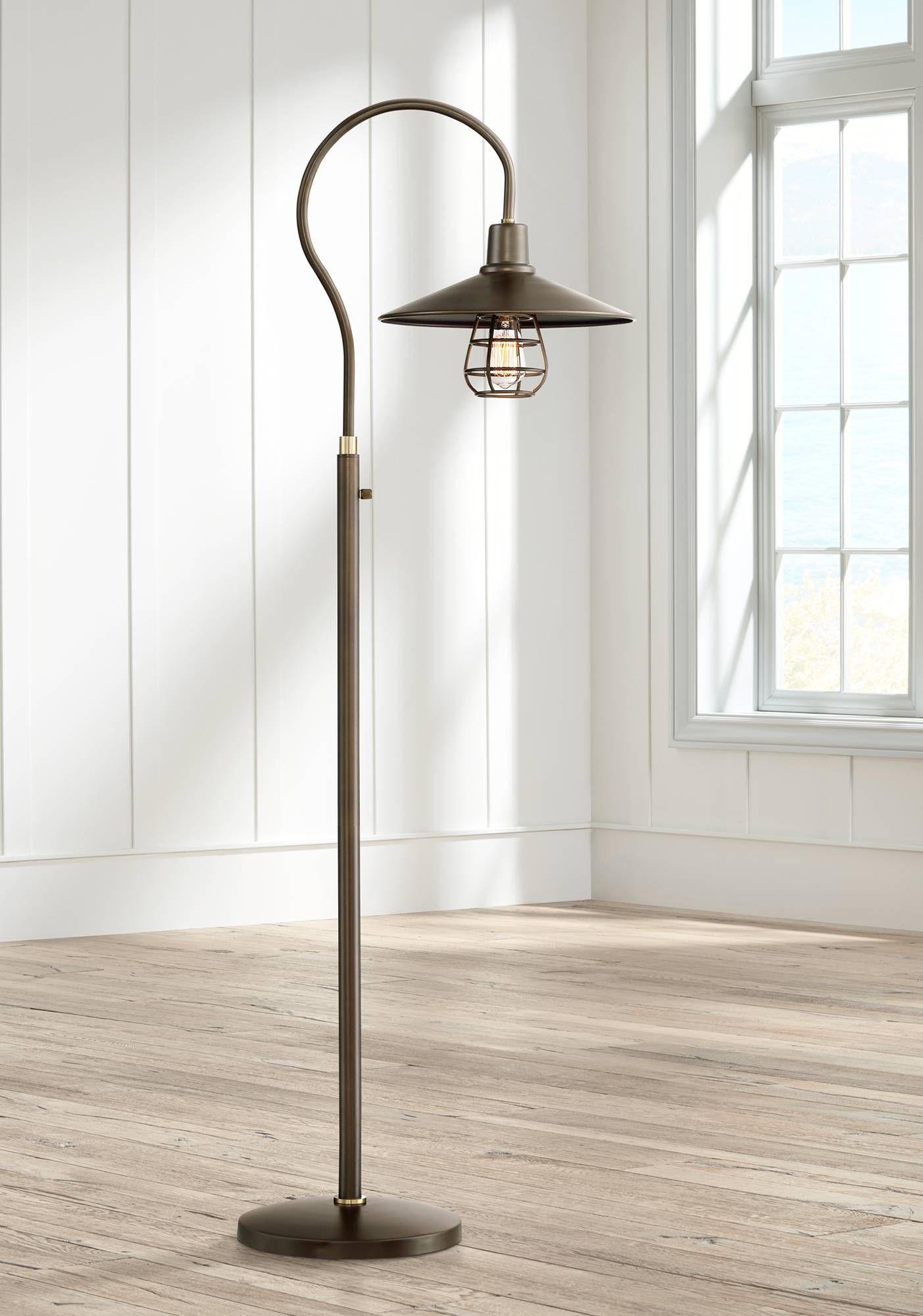 Garryton Industrial Oil-Rubbed Bronze Floor Lamp - #9M658 ...