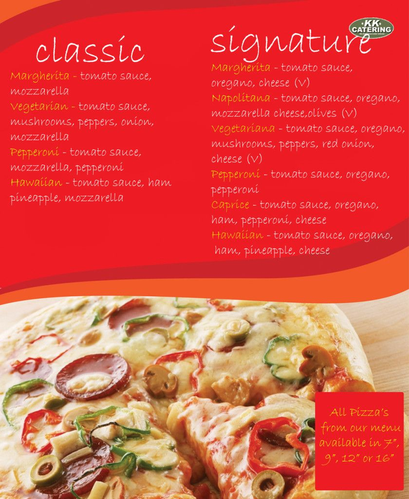 vans pizza menu