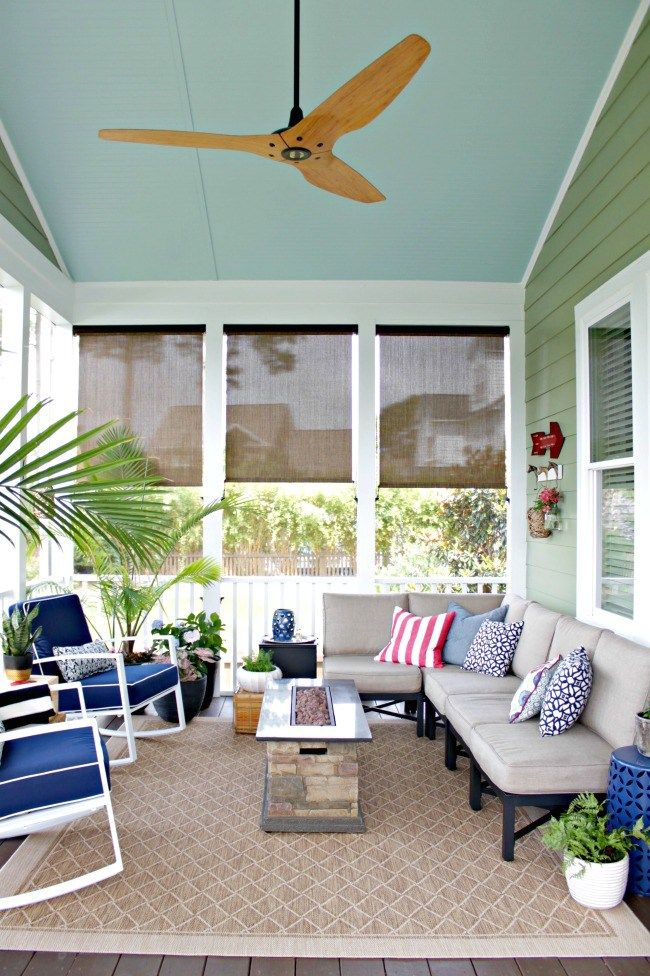 Screened Porch Reveal Summer Home Tour Outdoor Remodel Home Remodeling Summer Porch