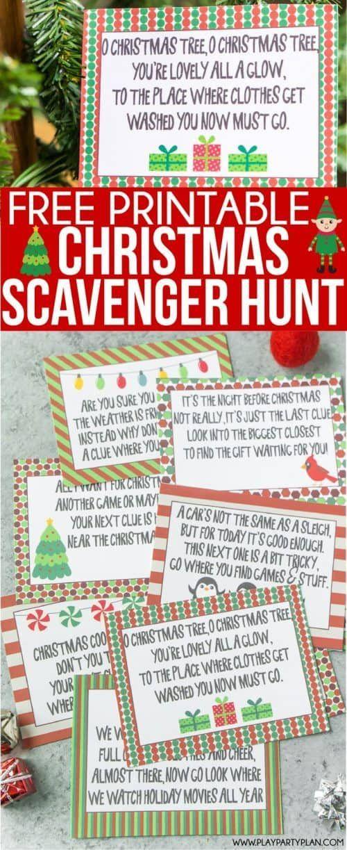 Printable Scavenger Hunts for Kids Christmas scavenger