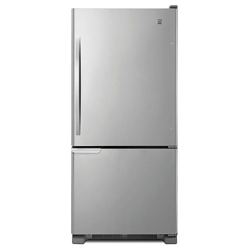 Kenmore 69313 19 Cuft Refrigerator With Swing Freezer Door Humidity Controlled Crispers Stainless Steel Bottom Freezer Bottom Freezer Refrigerator Stainless Steel Refrigerator