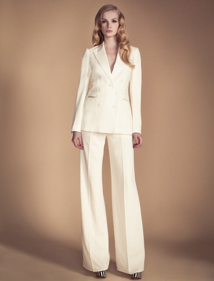 Ivory wedding suit by temperley london dress pinterest for Womens white dress suit wedding