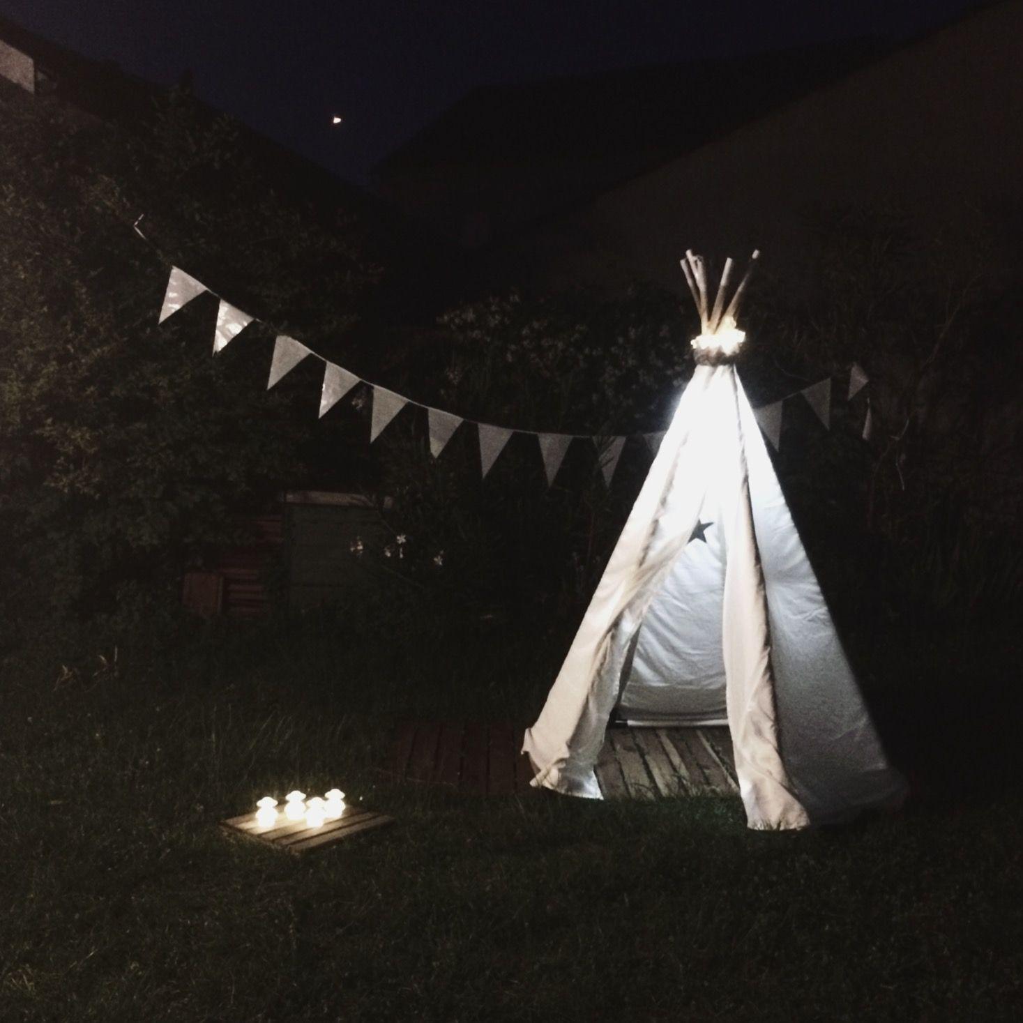 Tipi ampm indien deco jardin nuit leds | Octave amour ...