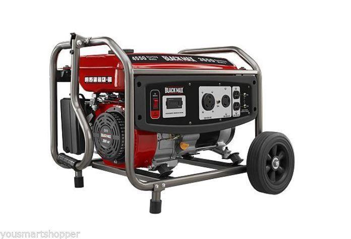 Sam S Portable Garage : Black max gas powered portable generator watt power
