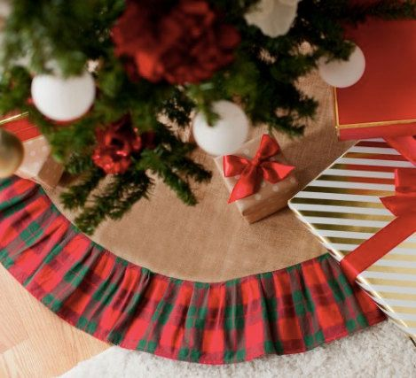 Monogrammed Wholesale Boutique Holiday Plaid Tree Skirt