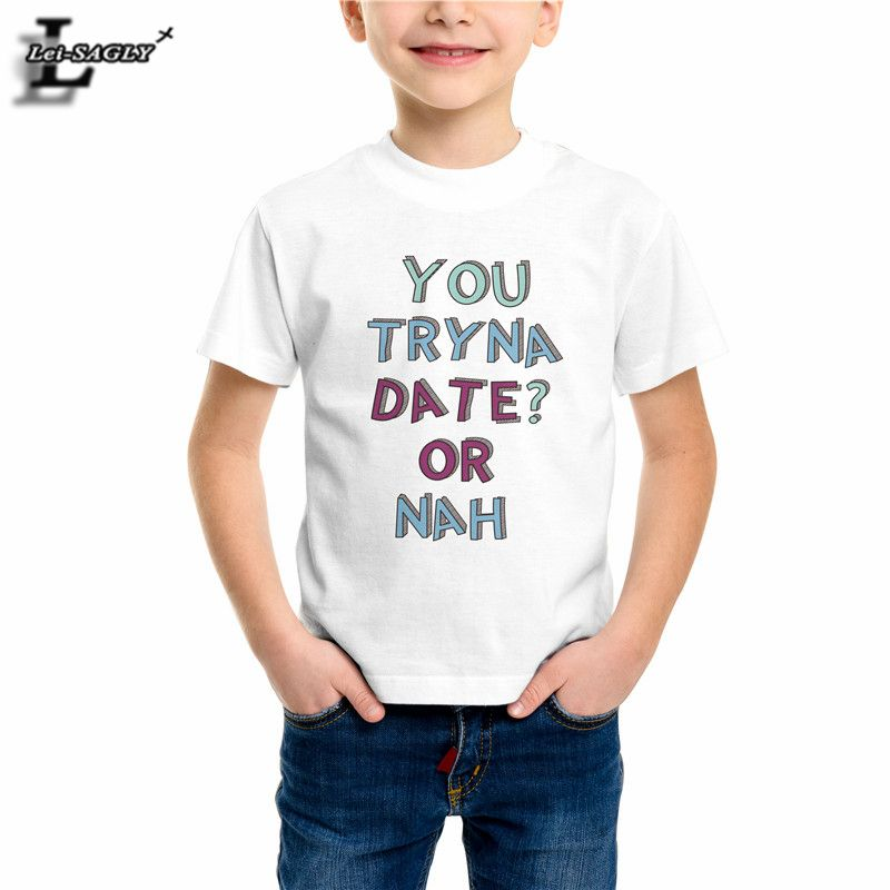 309977002 Click to Buy    100% Cotton Boys Girls T-shirts Letter 3D Print ...