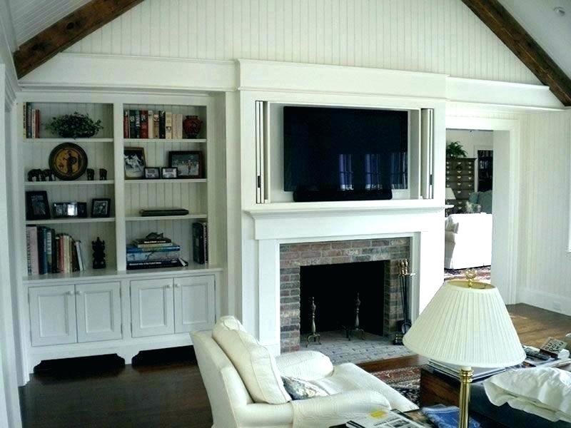 Hidden Tv Above Fireplace Hide Hidden Tv Cabinet Fireplace