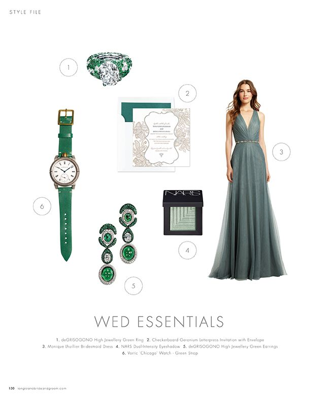 Wed Essentials Green #inspiration #ideas #weddingideas #weddinginspiration