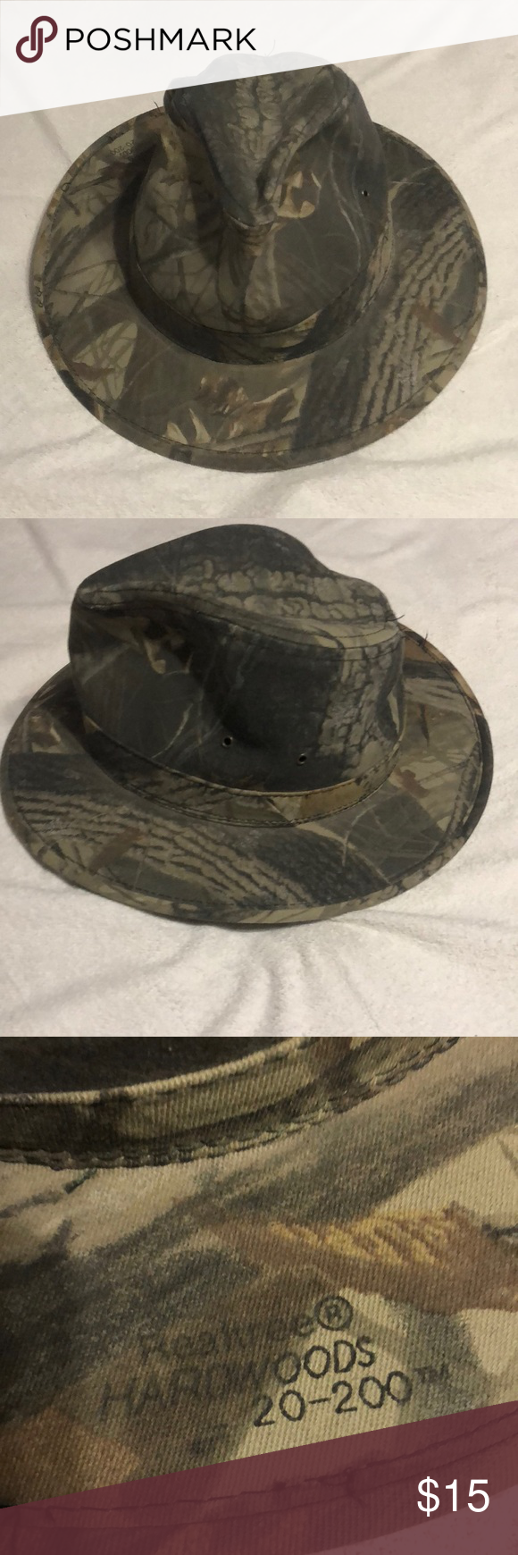 Realtree HARDWOODS. 20 200 size Lg camouflage hat Realtree