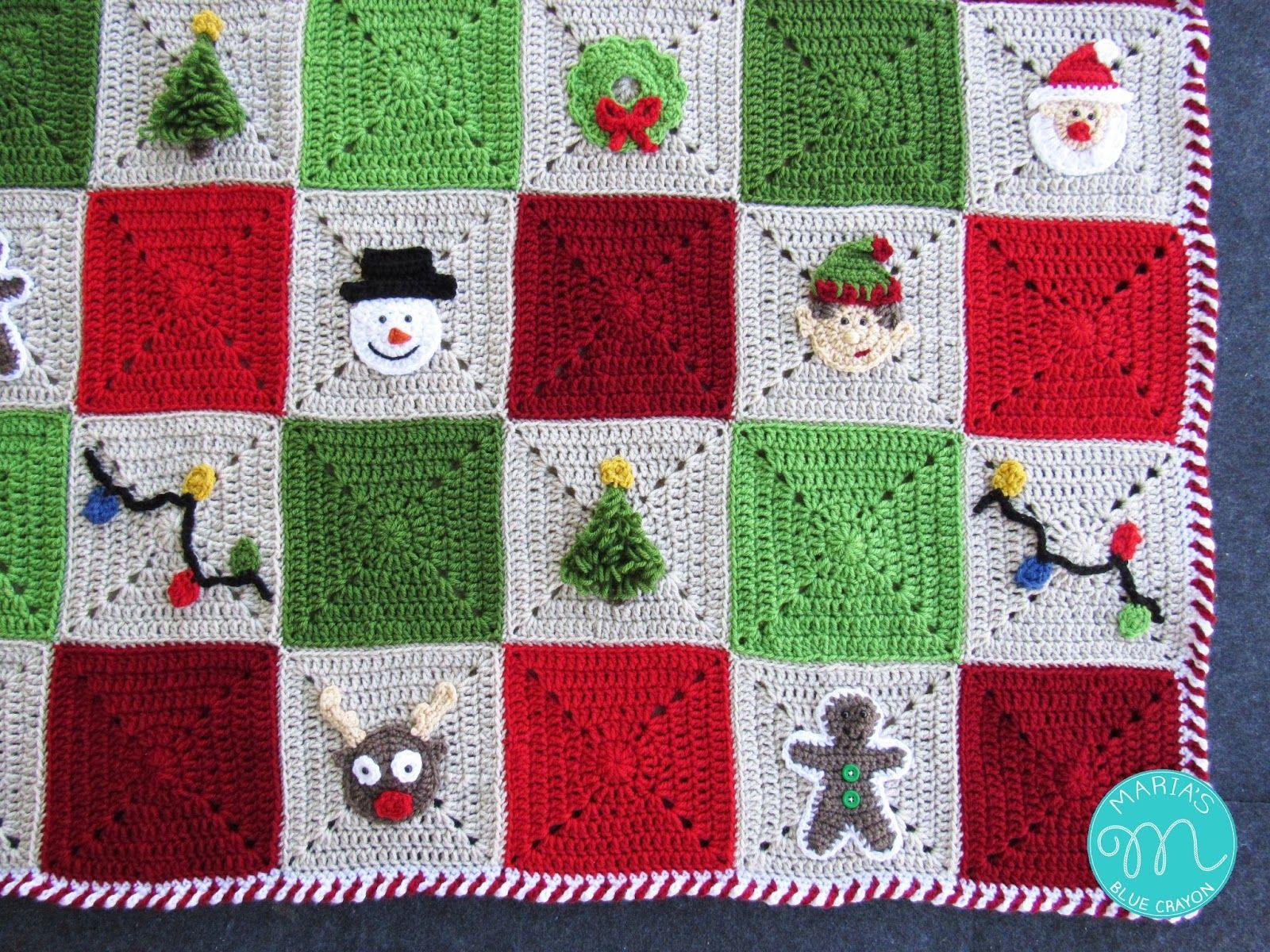 WEEK 9 - Christmas Granny Afghan CAL - Joining & Border | Crochet ...