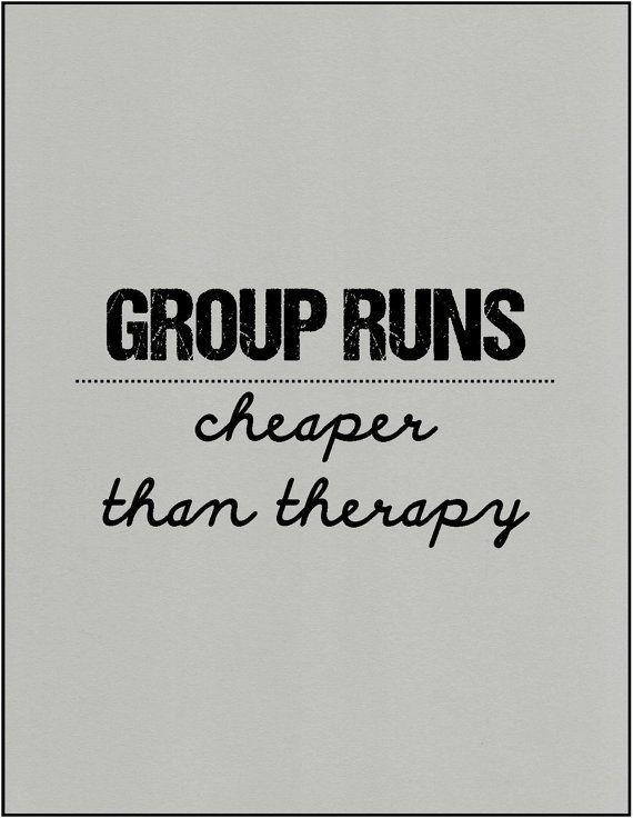 Running group motivation quote gift by JenniferDareDesigns