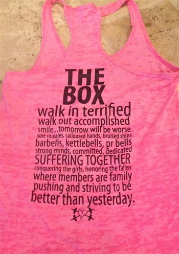 5248abe30e2e9  27 THE BOX! Better than Yesterday! Crossfit Tank