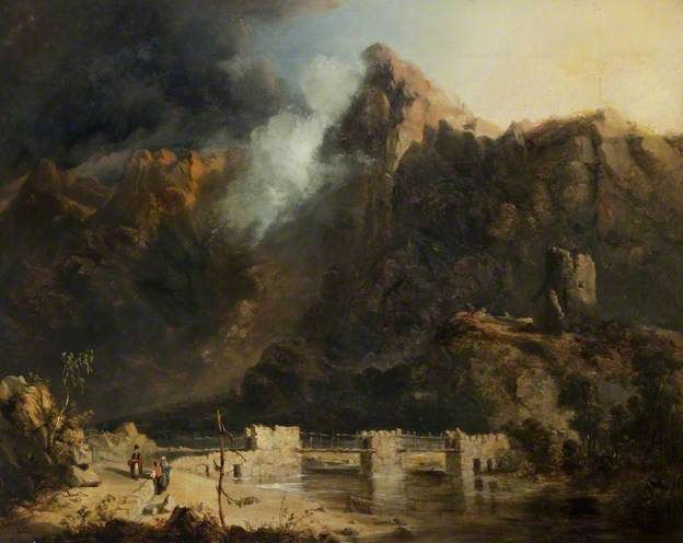 Slate Quarries, Llanberis   by John Wright Oakes  Harris Museum & Art Gallery   Date painted: 1840–1847 Oil on canvas, 51.5 x 66 cm   Collection:  Harris Museum & Art Gallery