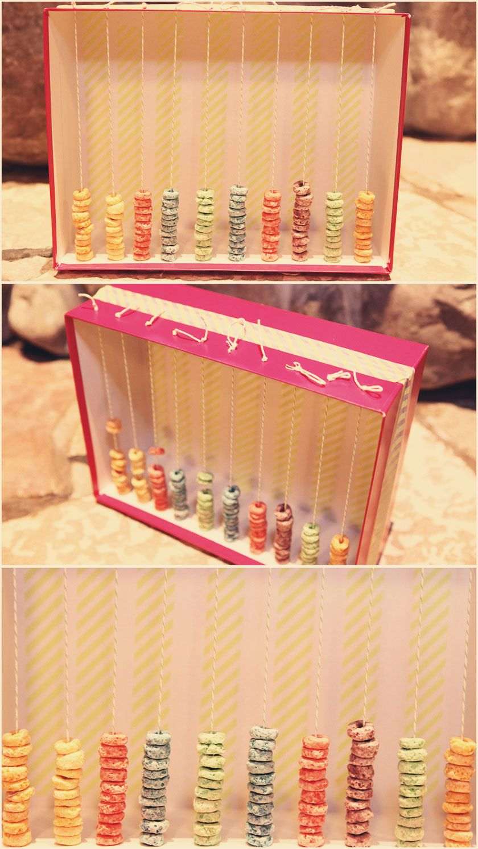 Scrapbook ideas school project - Shoe Box Abacus