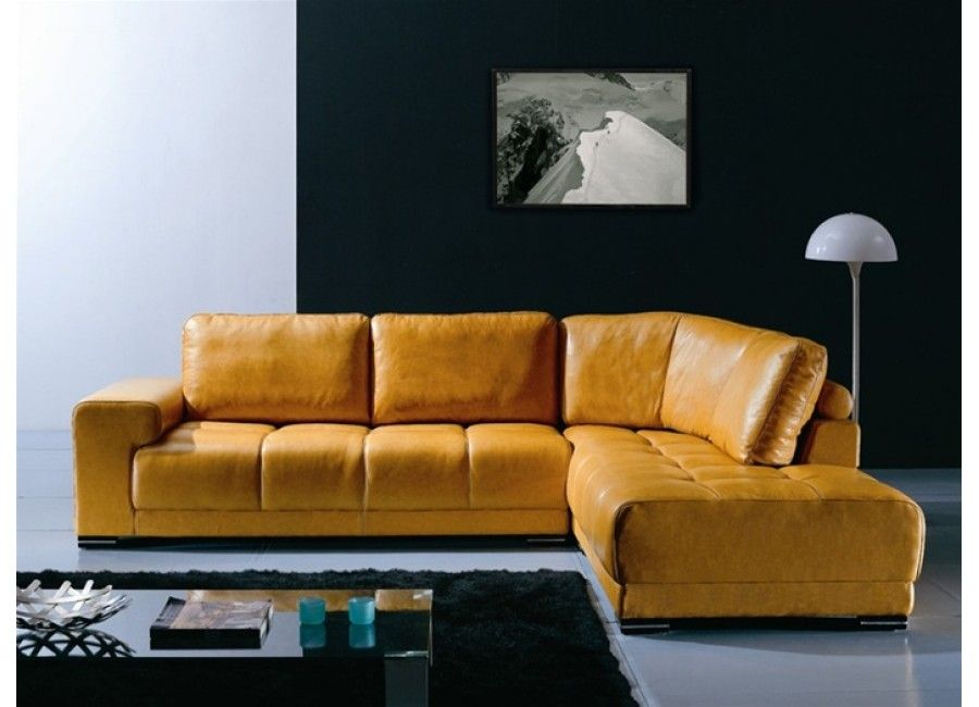 Loren Modern Gold Leather Sectional Sofa Modern Sofa Sectional