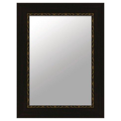 Rectangle Traditional Decorative Wall Mirror Walnut Ptm Images Mirror Wall Traditional Wall Mirrors Mirror Wall Decor