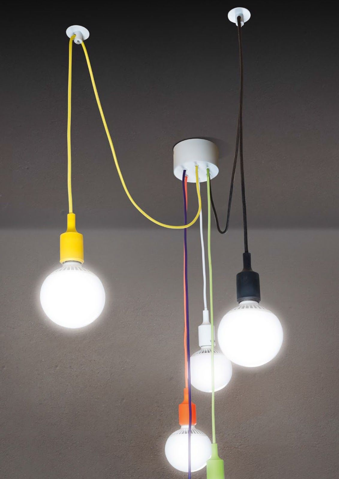 lampadario a sospensione con cavi a vista - Cerca con Google  lampadari con cavi a vista ...