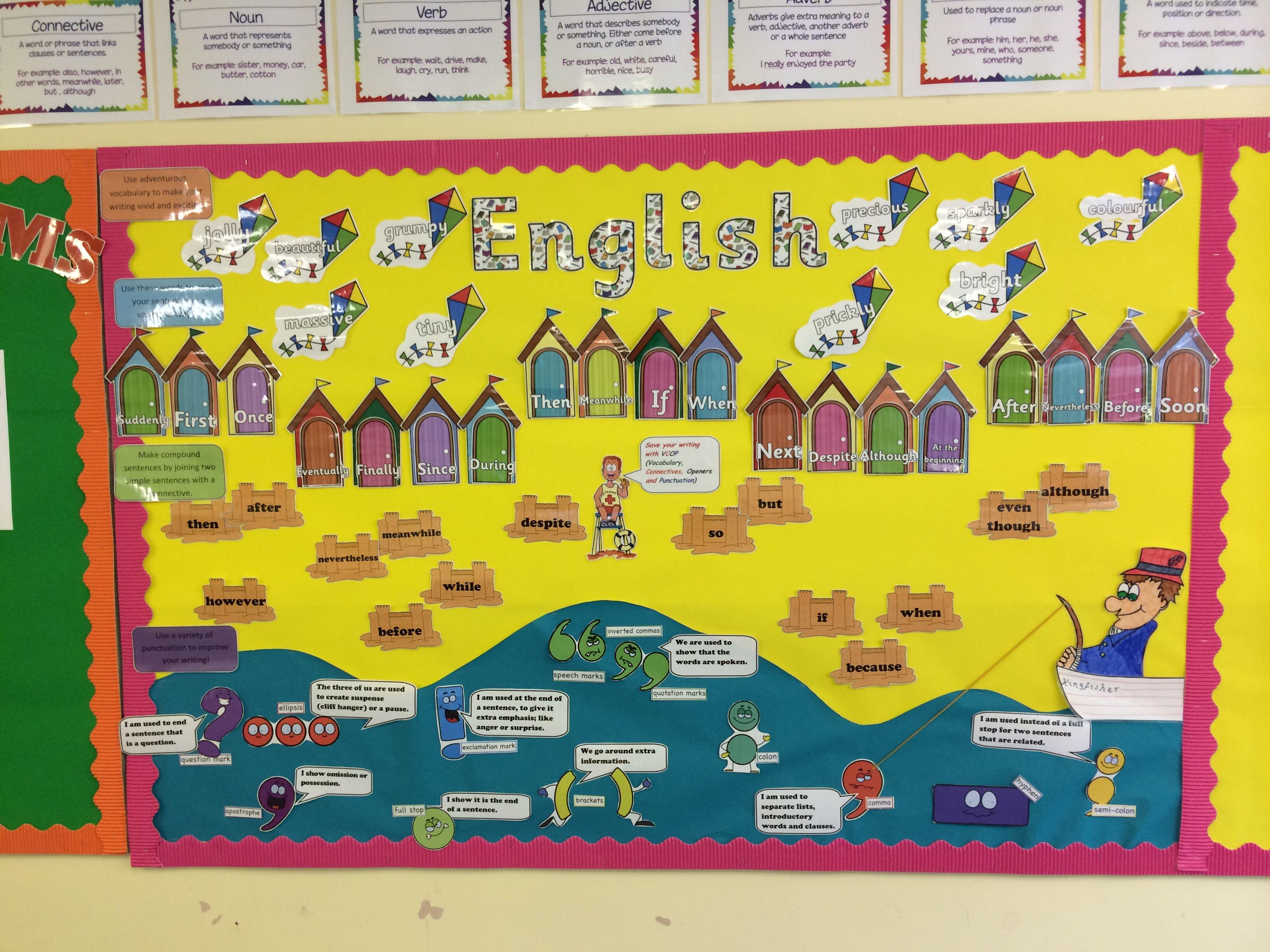Classroom Ideas Ks1 : Vcop beach themed english display ks school