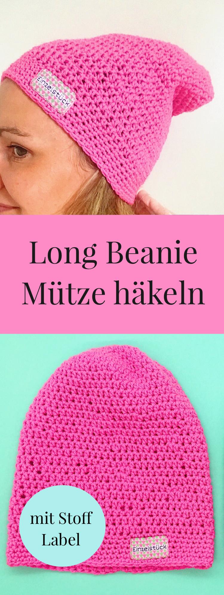 Beanie) Mütze häkeln – einfache Häkelanleitung, auch für Anfänger ...