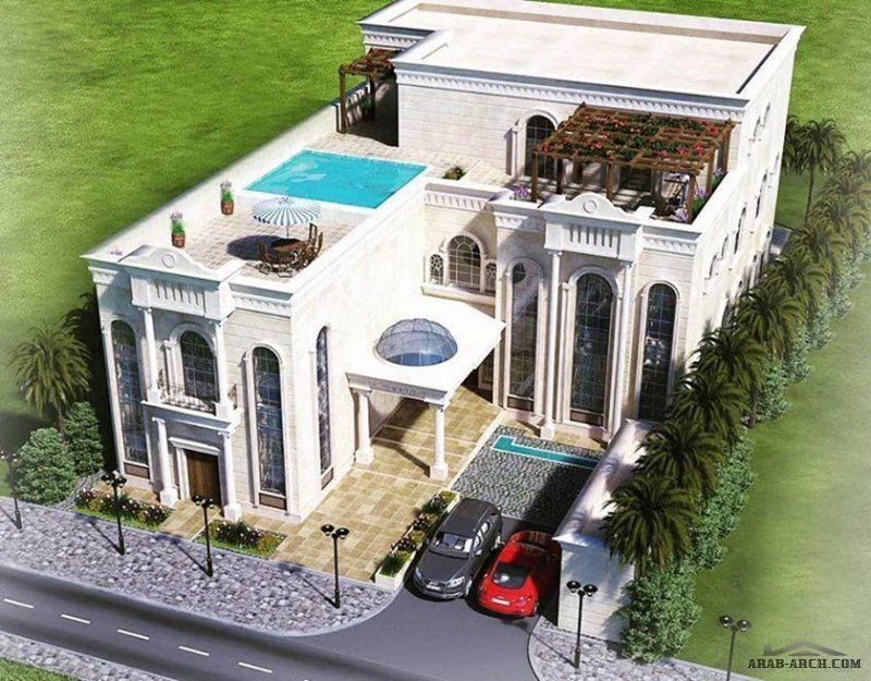 أعمال واجهات الفلل من اعمال و تصميم جيومترك للاستشارات الهندسية House Styles Mansions House