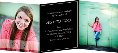 Custom graduation invitations tri fold creative printing of custom graduation invitations tri fold creative printing of bay county panama city filmwisefo Choice Image