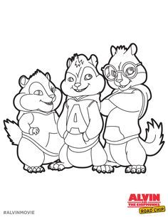 alvin and the chipmunks free coloring printable alvin and the chipmunks the road chip - Theodore Chipmunk Coloring Pages