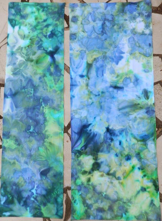 du fil et des couleurs: teinture glaçons
