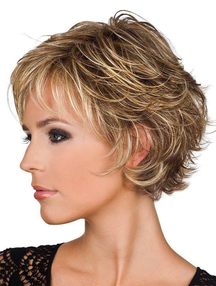 Short Blonde Wavy Real Hair Wigs | Hair |