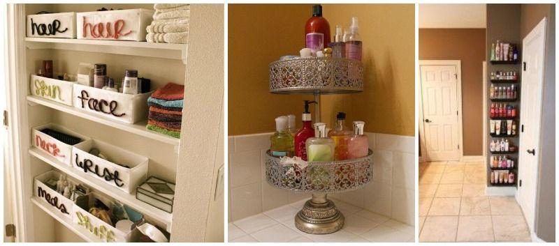 Dekorativno skladištenje šampona, gelova...