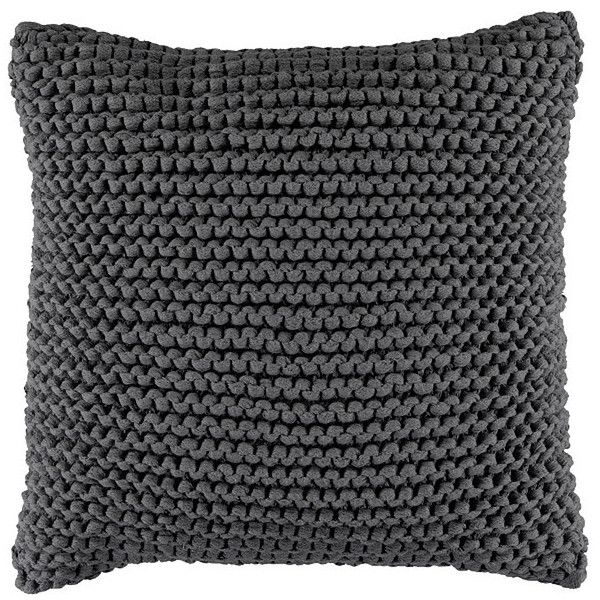 Picardy Knitted Cushion Dark Grey Target Australia 99 Dkk Liked On Polyvore Featuring Home Home Charcoal Throw Pillows Knitted Cushions Grey Throw Pillows