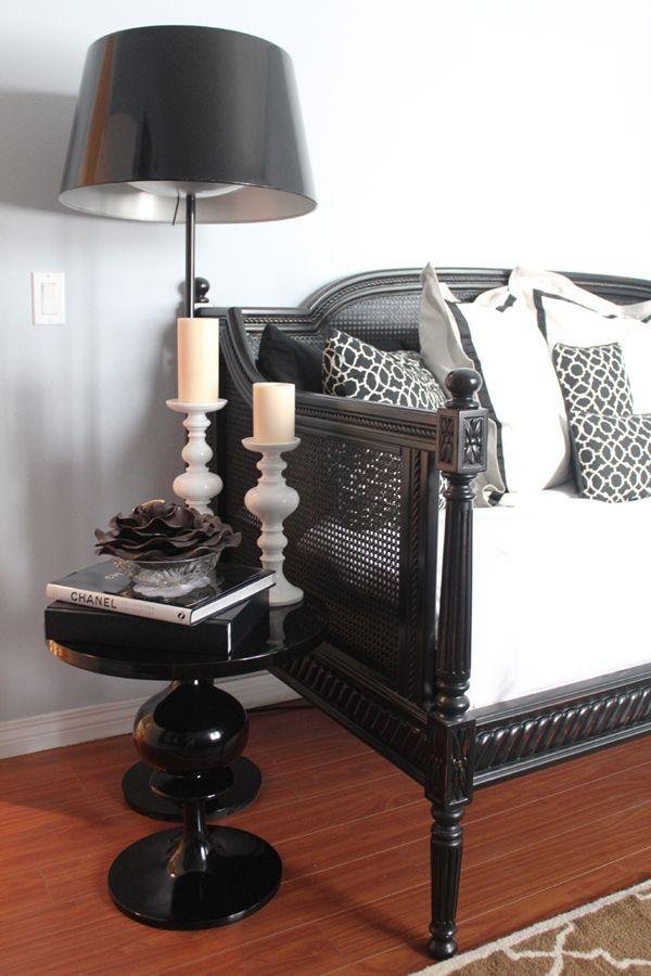 cute table, sofa and pillows.
