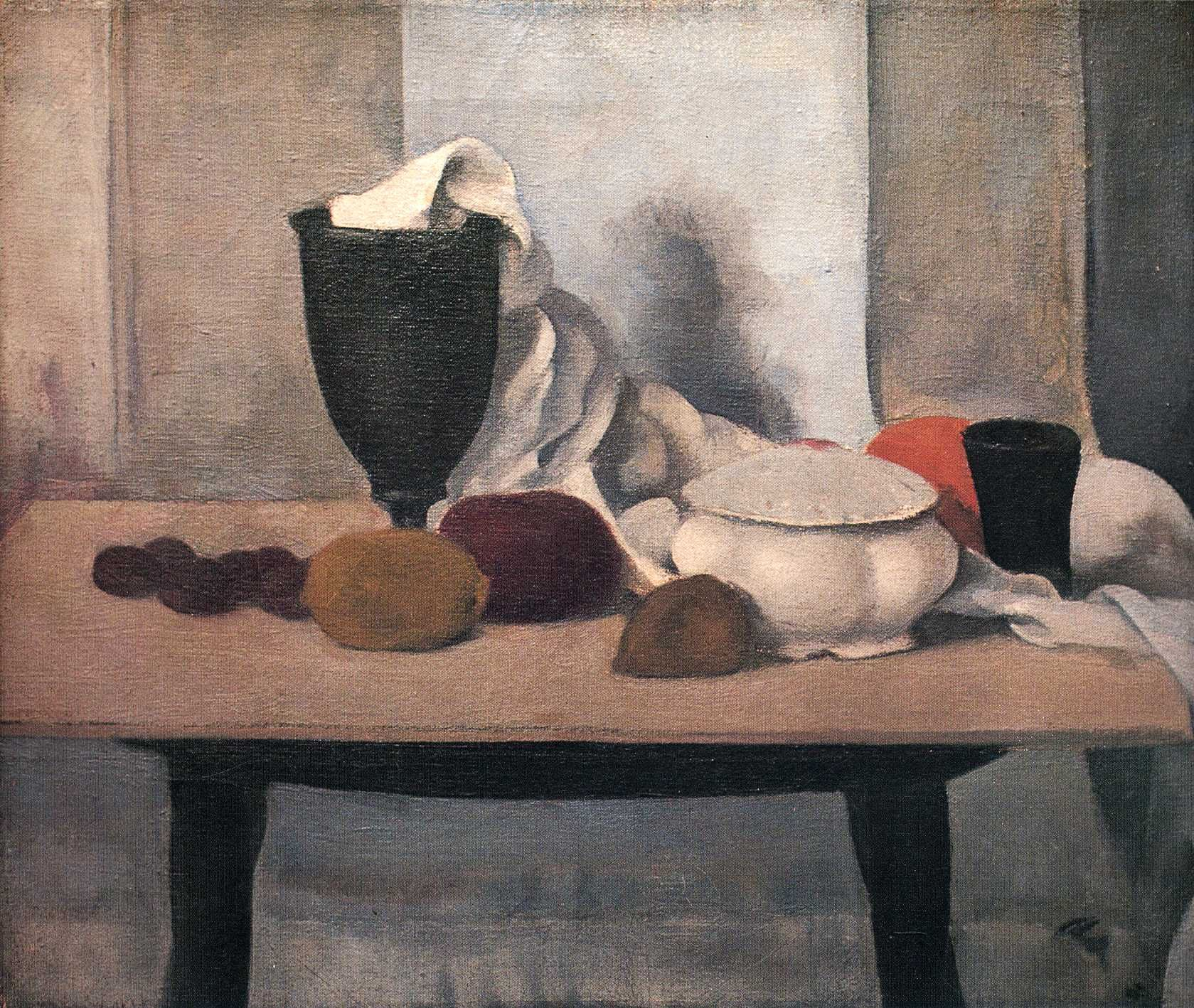 Lennart andersen still life with black trophy 14 x 18