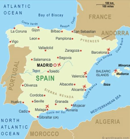 Map Of Spain 1492.Map Of Spain Independence From Muslim Rule In 1492 With The
