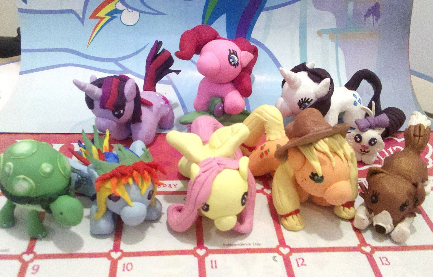 All my ponies <3  Finally finished the mane 6!  nerdymind.etsy.com