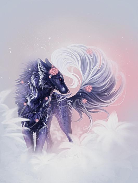 The Flower By Safiru Mythical Creatures Art Animal Art Fantasy Art