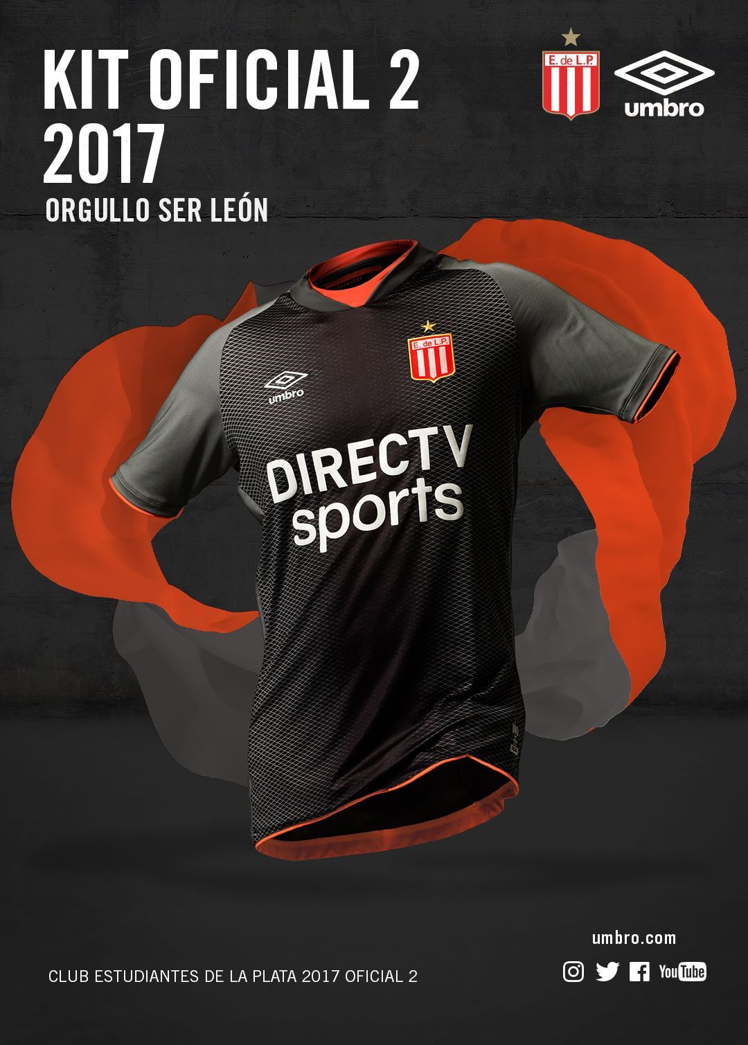 Camisas do Estudiantes de La Plata 2017-2018 Umbro  e7e92da238f4a